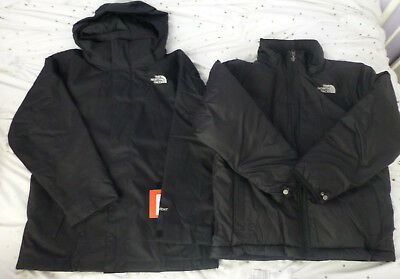 The North Face Boy Youth Abbit Triclimate 3in1 Snow Winter Ski Jacket Size M New