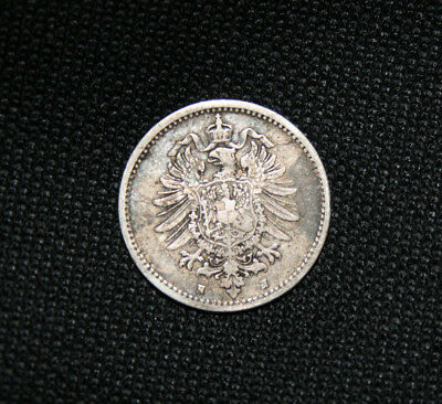 KEY DATE 1875H Germany 1875 H 50 Pfennig Silver!