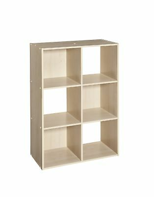 ClosetMaid Cubeicals 6 Cube Organizer Birch