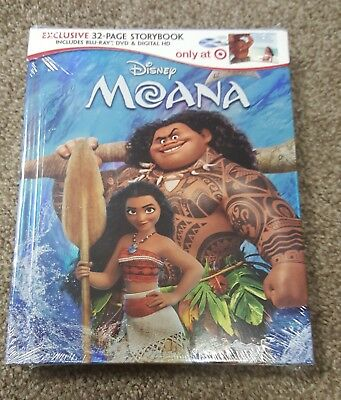 Moana  (Blu-ray/DVD/Digital) Target Exclusive Digibook BRAND NEW