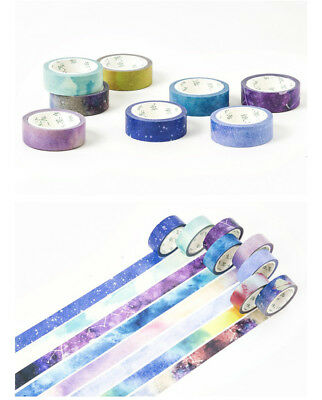 Decorative Washi Galaxy Space Sky Night Masking Adhesive Kawaii Planner Tape