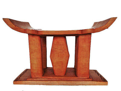 Massiv Holz Original Afrika Hocker Stuhl Akan Sitzmöbel Chair Stool