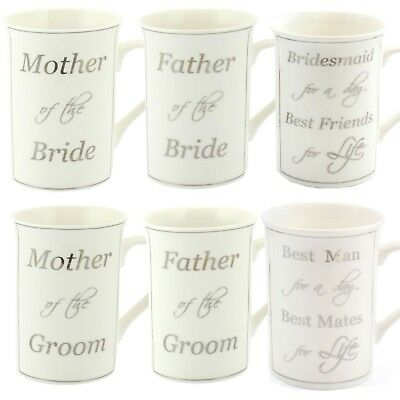 Wedding Fine china mug Thank you gift - Mother / Father Bride or Groom, Best Man