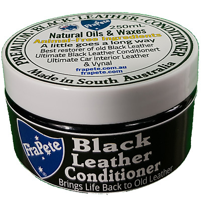 FraPete Leather Conditioner Leather Leather Balm - Pearl Black 230 grams 8.12oz