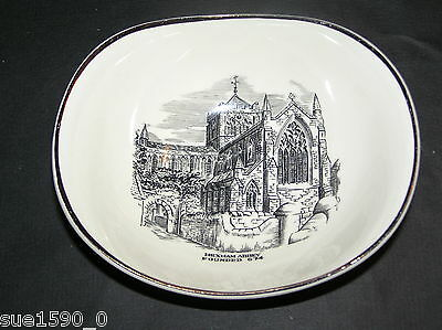 Gray's Pottery  'Hexham Abbey' shaped bowl  vgc