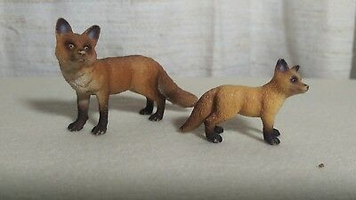 schleich red fox mother and cub