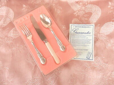 RODD  BOXED   CAMILLE  Childrens  SET   3  PIECE      SILVER PLATE       VINTAGE