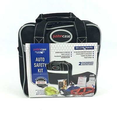 Justin Case Auto Safety Kit NEW (Deluxe) with (Membership-no fees)