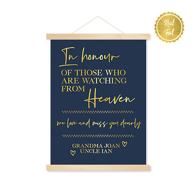 In Honour // Wedding signs // Gold and Navy // custom wedding // heaven