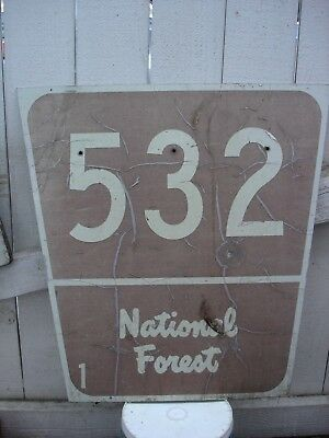 Metal Forest Service National Park   Sign 24 X 24 Inches