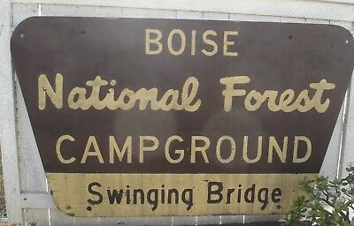 Wood Forest Service Boise National Park  Idaho Campground Sign 70 X 42 Inches