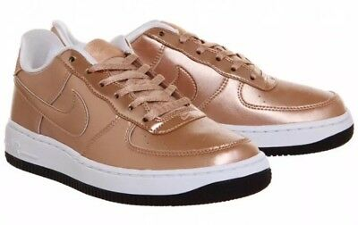 $80 Nike Air Force 1 SE Low GS Youth Size 6.5Y Rose Gold/White/Black 877083-901