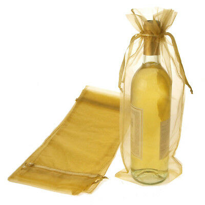Sheer Organza Gift Wine Wrap Bag, 6-Inch x 14-1/2-Inch, 6-Count