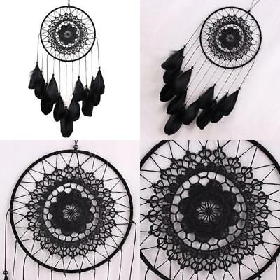 Whitelotous Handmade Lace Dream Catcher Feather Bead Hanging Decoration Ornament