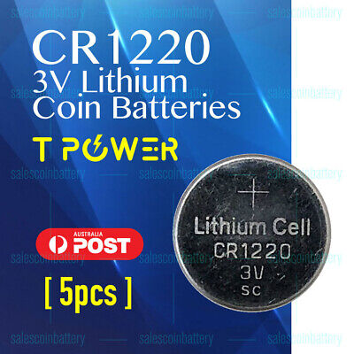 5x PKCELL CR1220 3V Cell Coin Lithium Button Battery Batteries Stock in Melbour