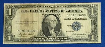 1935E $1 Blue SILVER Certificate Tombstone Fancy SErial Number 1918-1969!