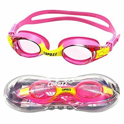 COPOZZ Kids Swimming Goggles, Swim Goggles for Children Junior Boys Girls - Age