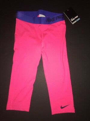 Nike Girls Pro Compression Drifit Training Spandex Tights 616470 639 Size Medium