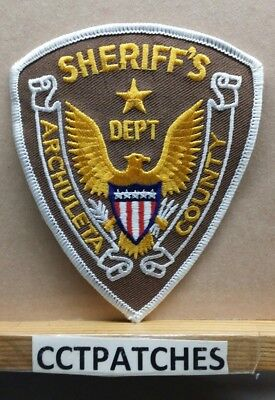 Archuleta County, Colorado Sheriff Stock Eagle (Police) Shoulder Patch Co