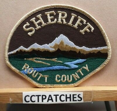 Routt County, Colorado Sheriff (Police) Shoulder Patch Co