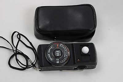 Exc++ Spiratone Sss Flash Meter In Case, With Strap, Tested, Accurate