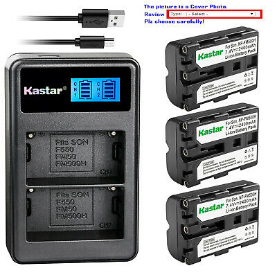 Kastar Battery LCD Dual Charger for Sony NP-FM500H BC-VM10 ACSQ950 Viltrox DC-50