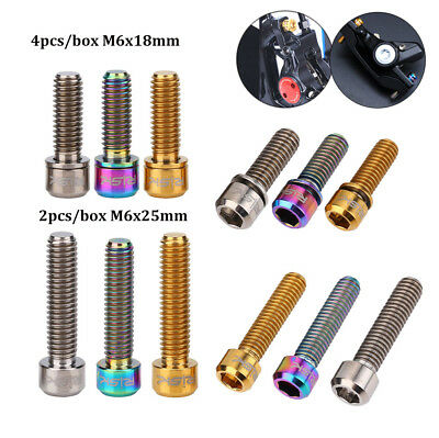 Bicycle Accessory M6x18/25mm Bike Titanium Screw Caliper Bolt Disc Brake W/Box