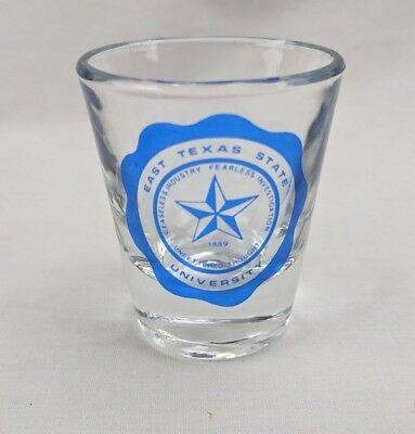 Collectors East Texas State University Shot Glass