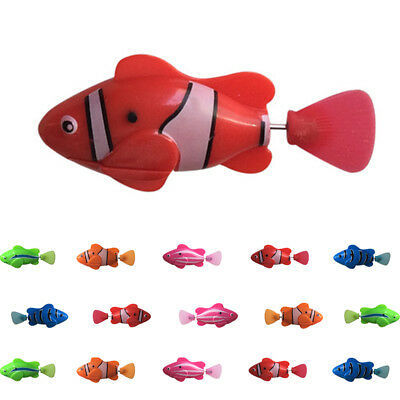 Battery Electric Swimming Activated Robot Fish Toy Robotic Fish Pet Cat Toy R1