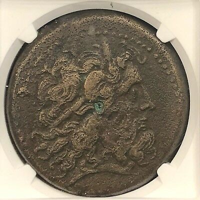 Ptolemy IV 222-204BC Ancient Greek AE42 Drachm NGC Zeus-Ammon 67.5g