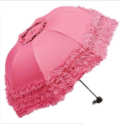 New Arched Umbrellas Women Sun Rain Princess Umbrella Lace Wedding Parasol Great