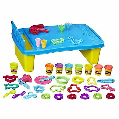 Play Doh Play 'n Store Table   Includes 8 Tubs, 25+ Tools, Creativity Centre
