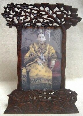 ANTIQUE CHINESE CARVED WOOD PHOTO FRAME, 19th / early 20th Cent.