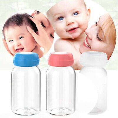 Baby Breast Milk Feed Bottles Collection Storage 125ML Neck Wide Storage Bottle