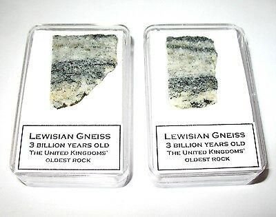 Lewisian Gneiss oldest rock in England 3 billion years old in nice display case