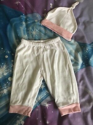 Baby Girls Pants With Matching Beanie Size 0