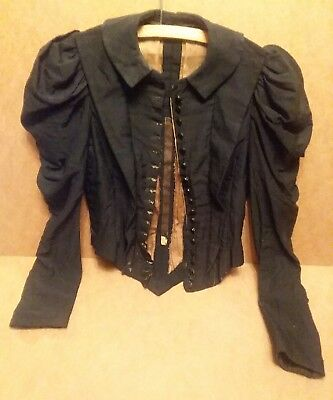 antique victorian edwardian jacket vintage gothic puffed sleeves