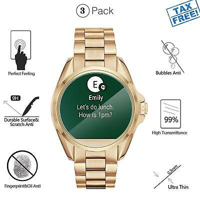 Tempered Glass Screen Protector For Michael Kors Smart Watch Anti-Scratch 4-Pack