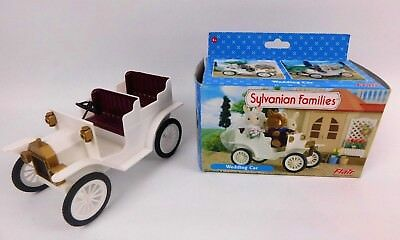Sylvanian Families White Wedding Car Vintage Style Classic Boxed