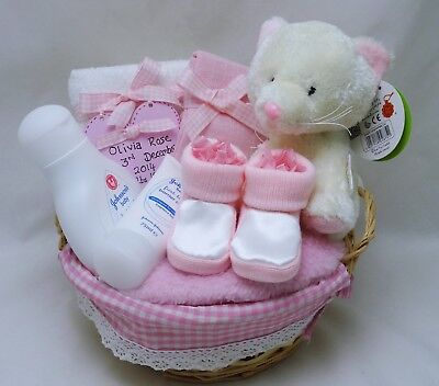 Personalised Baby Girl Gift Hamper Nappy Cake  Baby Shower Maternity