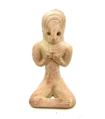 Indus Valley Terracotta Female Idol  Holding Breasts  - L88