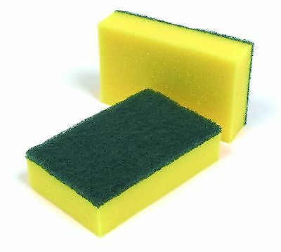 20 x Large Sponge Scourers Heavy Duty Catering Cleaning Supplies Wholesale