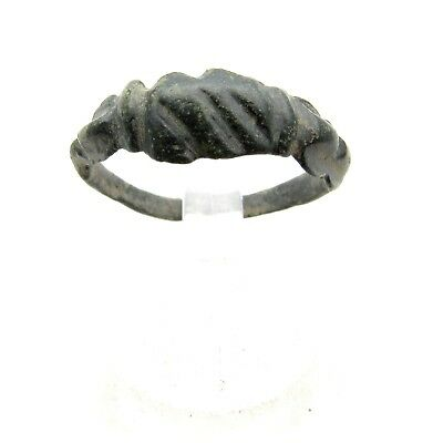 Medieval Viking Era Bronze Decorated Ring - Lovely Wearable Artifact - C956