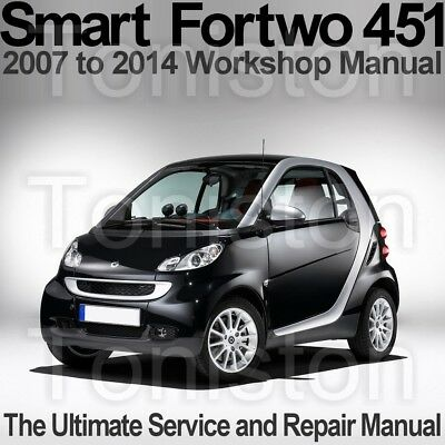 Smart Fortwo (Type 451) 2007 to 2014 Workshop, Service and Repair Manual on CD