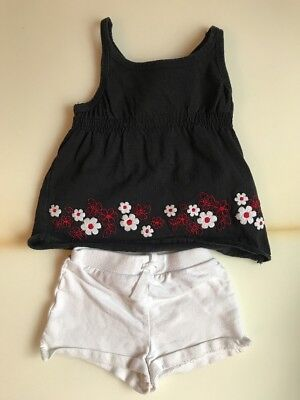 Tank Shorts Black & White Size 18 Months Girls (175) COMBINED SHIPPING