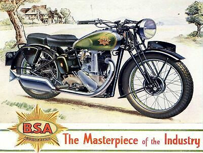 BSA MOTORCYCLES NOSTALG  Retro Metal Tin Sign Poster Plaque Garage Wall Decor A4