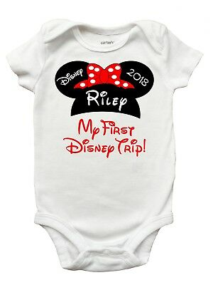 My First Disney Trip Romper - First Disney Shirt for Baby Girls and Boys