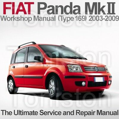 Fiat Panda 2003 to 2009 (Type 169) Workshop, Service and Repair Manual on CD