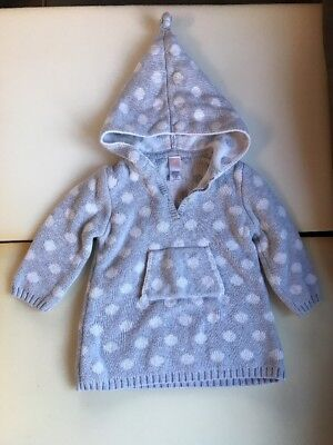 Old Navy Gray Sweater Hoodie with White Polka Dots Girls Size 18-24 Months (144)