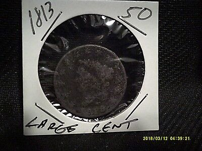 1813 Large Cent AG Condition Please Look At Pics Over 200 Years Old Rare